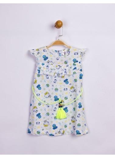 Hello Kitty Çocuk Elbise 15905 Yeşil